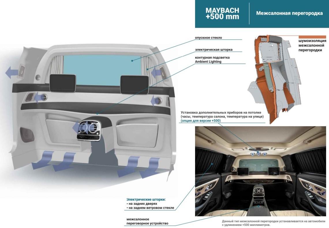 Работы по удлинению Mercedes Maybach long